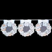 【lassley】門簾紗-圓滿花環116X42cm(採歐洲進口紗)