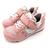 《7+1童鞋》日本月星   MOONSTAR 魔鬼氈  透氣  機能  運動鞋  C491  粉色