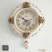 美式復古鐘表歐式掛鐘客廳靜音家用大氣掛表創意壁鐘臥室豪華時鐘