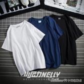 復古百搭純棉純色寬鬆短袖打底衫T恤白色男女體恤潮短袖衣服丅(速度出貨)