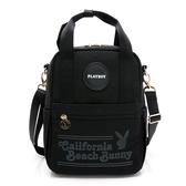 PLAYBOY- 後背包可肩背 California Bunny系列 -黑色