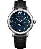 AEROWATCH 星空繁華月相時尚腕錶-黑珠貝 A43938AA10