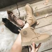 馬丁靴 女靴潮百搭磨砂新款秋冬季英倫風冬加絨學生韓版短靴子