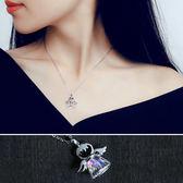 項鍊 翅膀 天使 水晶 創意 設計 氣質 項鏈【DD1703270】 icoca  05/04
