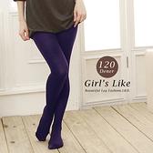 【露娜斯】厚地120丹尼20階段著壓設計全足褲襪【紫】台灣製 LD-9000