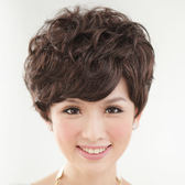 貴氣款上班族自然微捲短髮【1029M】與日本同步流行擬真係假髮☆雙兒網☆
