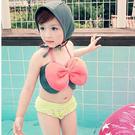 大蝴蝶結比基尼 綁帶可調   寶寶游泳衣泳裝 玩水溫泉泡湯SPA  橘魔法 玩水褲 現貨 童 泳衣 兒童
