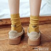 襪子襪子女中筒襪堆堆襪女秋冬純棉日系長筒韓版學院風百搭復古長襪女 夢想生活家