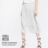 【南紡購物中心】KOMI-幾何點點雪紡鬆緊長裙 ‧有裡