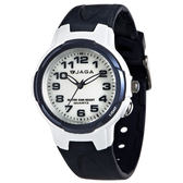 JAGA 捷卡 AQ71A-E 繽紛炫麗 多功能防水錶 多功能電子錶 運動錶 女錶/中性錶/手錶 藍色