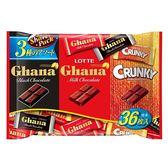 LOTTE Ghana Crunky巧克力分享包134g【愛買】