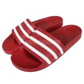 adidas 運動拖鞋 Adilette 紅 白 拖鞋 防水 基本款 三條線 男鞋 女鞋 【ACS】288193