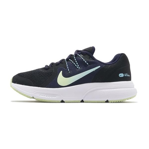 Nike Zoom Span 3 女款運動 慢跑鞋 氣墊 舒適 避震 輕量 路跑 健身 黑綠 CQ9267013