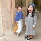 條紋圓領長袖衛衣 短版 長版2種可選 兄弟姊妹裝 薄長袖 男童 女童 橘魔法 現貨 兒童 童裝