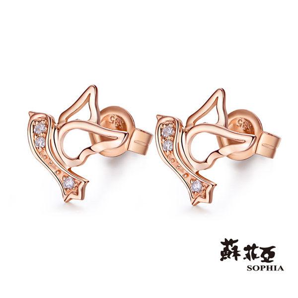 蘇菲亞SOPHIA - 幸福鳥鑽石耳環(共二色)