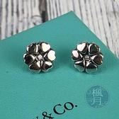 BRAND楓月 TIFFANY&CO. 蒂芬妮 925純銀 造型花耳環 鑲鑽 小鑽 配件 配飾 飾品 品牌銀飾