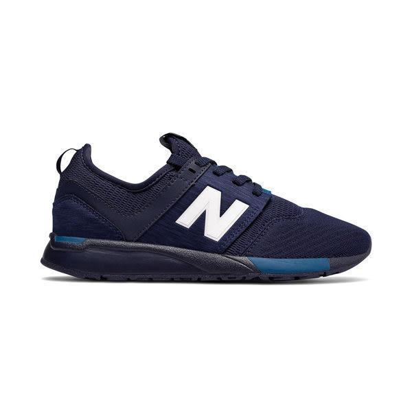 NB 247 大童鞋 女 深藍 白 運動時尚鞋 寬楦 避震 透氣慢跑鞋 休閒鞋 New Balance KL247C2G