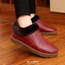 真皮棉拖鞋女包跟冬季居家室內情侶老人厚底防滑家居保暖棉鞋男 快速出貨