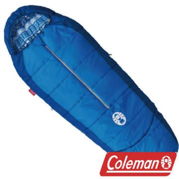 Coleman 4度兒童可調式海軍藍睡袋/C4 人形睡袋 蛋型睡袋 化纖睡袋 露營 CM-27270