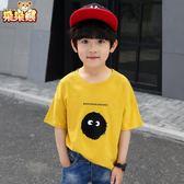 男童短袖t恤純棉潮童夏裝洋氣 兒童中大童男孩體恤童裝男