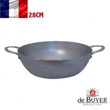 法國【de Buyer】畢耶鍋具『原礦蜂蠟系列』雙耳深煎炒鍋28cm