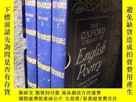 二手書博民逛書店THE罕見OXFORD LIBRARY OF English Poetry 【全3冊精裝】 帶書匣 FOLIO 出