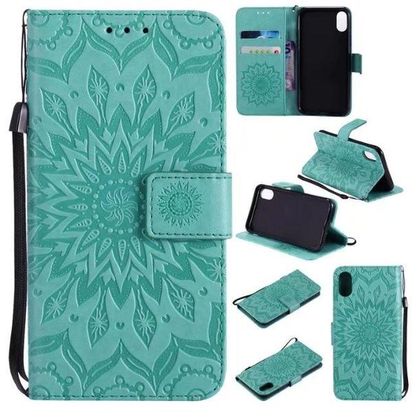 壓紋皮套 三星 Galaxy S8 手機皮套 保護殼 太陽花皮套 S8 plus S8+ 錢包款 保護套 手機殼