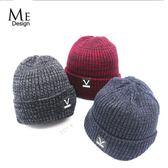 毛線帽子男士女秋冬季潮保暖百搭加絨黑色套頭學生歐亞時尚