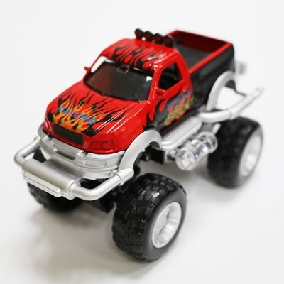 FOOD超人有聲迴力越野車 紅色 (OS shop)