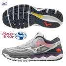 MIZUNO WAVE SKY 4 女鞋 慢跑 3E寬楦 XPOP 輕量 ENERZY 回彈 灰紫【運動世界】J1GD201242