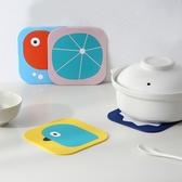 卡通隔熱墊 家用防水餐桌杯墊餐廳硅膠防燙軟茶咖啡碗墊PVC茶杯墊