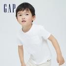 Gap男幼童 清新純棉貼袋短袖T恤 701455-白色