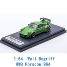 Liberty Walk 1/64 模型車 RWB Porsche 保時捷 964 IP640002RWB 綠色 東京改裝車展
