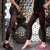男性商品 CICILY 漢子情人 連褲襪微厚 加厚包芯絲 九分褲 絲襪 帶弟弟套 情趣用品  W-004 黑色