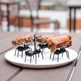 【BlueCat】螞蟻總動員黑色水果叉 (12入)