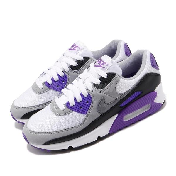 【六折特賣】Nike 休閒鞋 Wmns Air Max 90 OG Hyper Grape 白 紫 女鞋 經典配色 運動鞋 【ACS】 CD0490-103