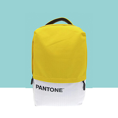 PANTONE學院風後背包(USB外接充電) - 繽粉黃