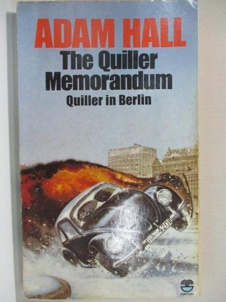 【書寶二手書T2/原文小說_A4F】The Quiller Memorandum_Adam Hall