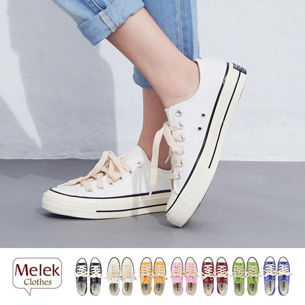 Melek 鞋子類 (共7色) 現貨 【A01170429-0137~0740】女帆布鞋低筒復古款
