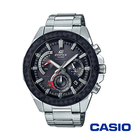 CASIO卡西歐 小格紋重金屬太陽能時計男腕錶-黃x48mm EQS-910D-1B