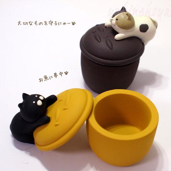 【00231】 貓咪小收納盒 Nyacotto 悠閒貓 首飾盒 喵星人 貓咪 公仔擺設 黑貓 三毛貓