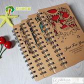 筆記本 動物叢林雕刻創意歐美風時尚新穎筆記本日記本記事本硬面抄可 居優佳品
