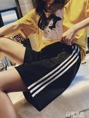 運動短褲女夏寬鬆ins潮外穿跑步韓版休閒高腰bf風中褲直筒五分褲 極有家