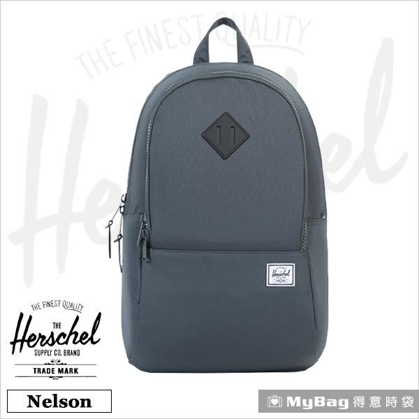 Herschel 後背包 黑灰色  多功能收納 15吋筆電後背包 Nelson-930 MyBag得意時袋