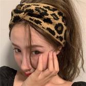 髮箍 少女針織髮帶正韓ins百搭豹紋髮箍洗臉寬邊網紅外出毛線箍髮飾品
