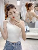 背心  2020夏季新款韓版性感打底衫美背吊帶外穿網紅泫雅氣質背心女