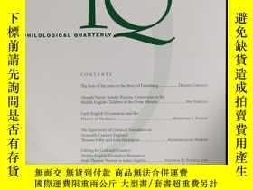 二手書博民逛書店philological罕見quarterly 2019年夏季刊 英文版Y42402
