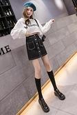 短裙女春款黑色裙子2021新款包臀牛仔包裙高腰a字一步半身裙秋冬 童趣屋