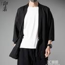 中國風漢服開衫外套男大碼寬松道袍古風禪服夏季冰絲防曬衣和服 3C優購