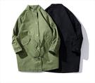 找到自己 品牌設計 日系 工裝 中長款 大衣 風衣 外套 春季款  DECKIES  潮流
